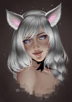 [C] close up portrait by Aoleev