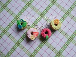 Donut Charms 5-8 by FunkadelicPsychoFish