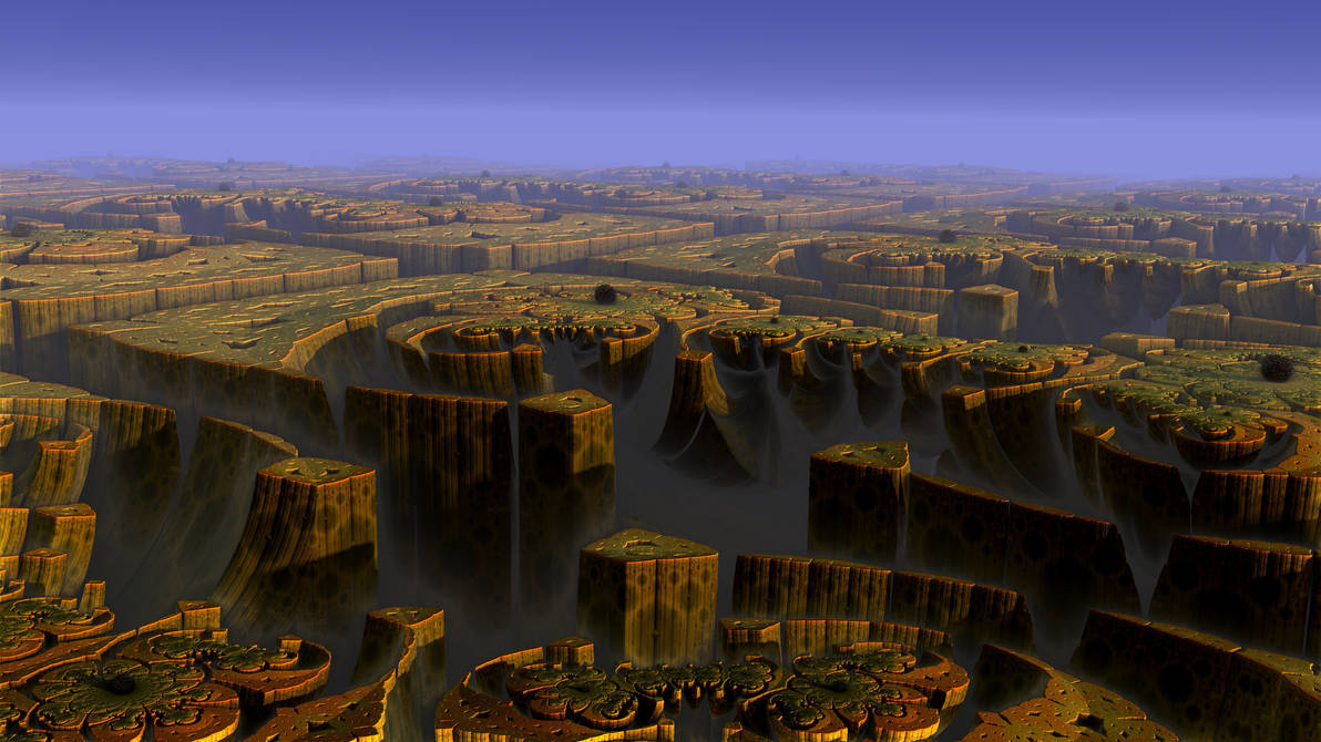 Land of a thousand canyons by Les-Monts