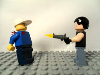 Lego gunshot test by AFlahrman