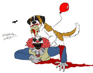 Cujo vs pennywise by AFlahrman
