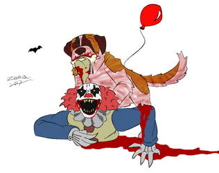 Cujo vs pennywise (bloodier) by AFlahrman
