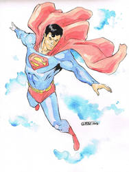 Superman Con Sketch by davidjcutler