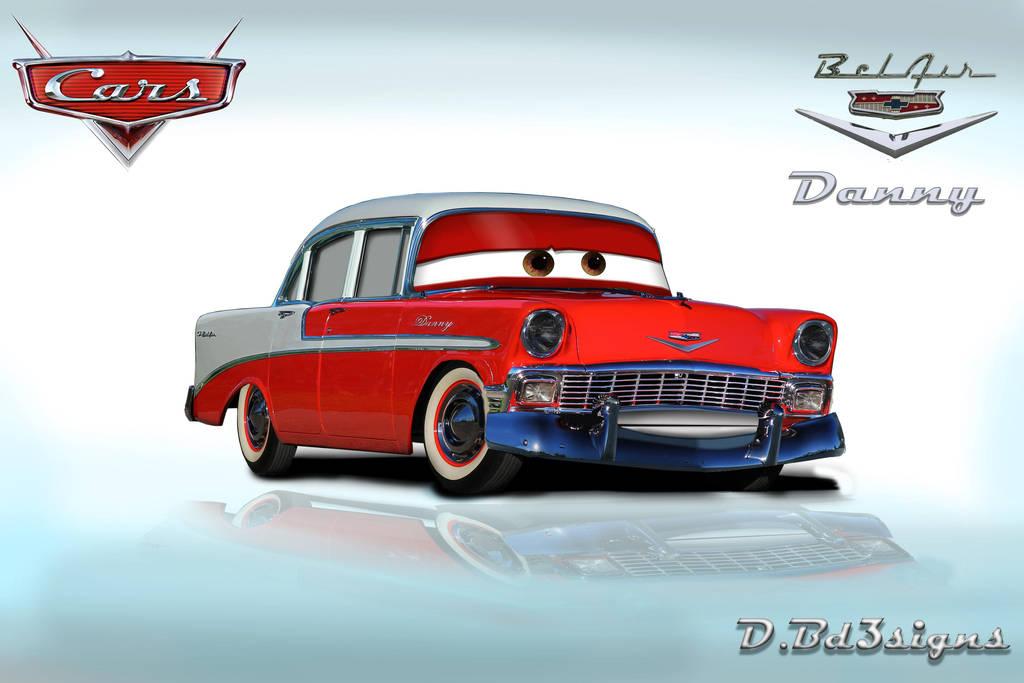 Pixar Cars Chevrolet Bel Air 4 Door Sedan Render By Dannyberry123 On
