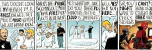Steve Jobs In Heaven by DanDougherty