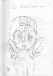 Derpy in ''I has Sketchbook now!'' by MoonFlowerSax