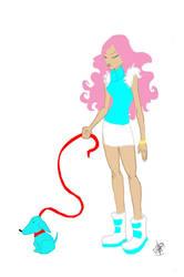 blue dog by KOMP