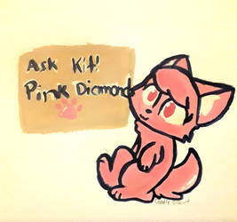 Ask Kit! Pink Diamond by DoodleBiscuit