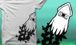 inky blooper t-shirt by noisextank