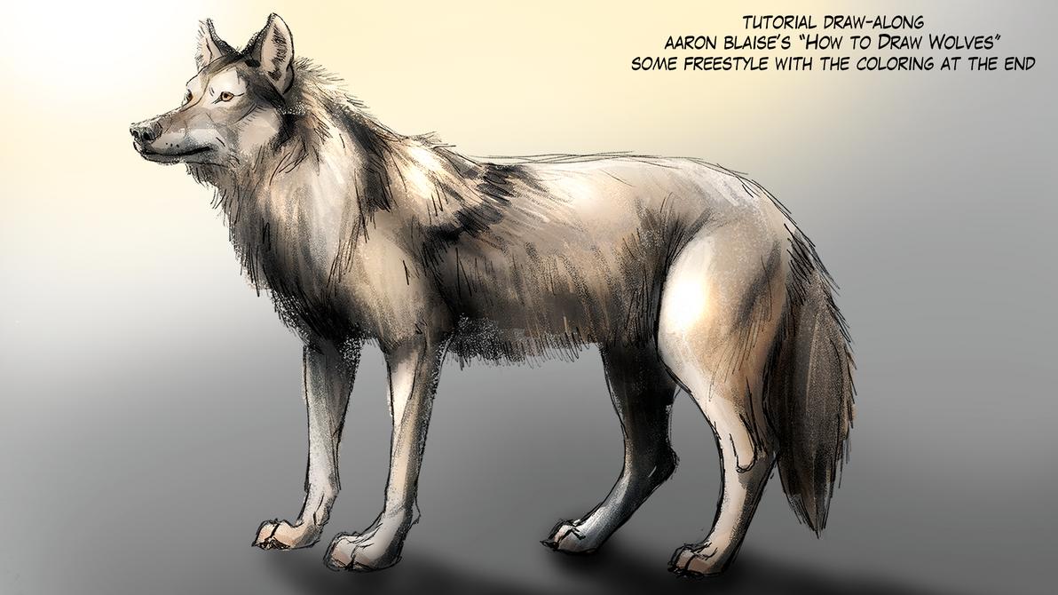 Wolf Pose Practice (Aaron Blaise Tutorials) by EpicSaveRoom