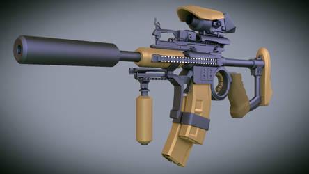 sci-fi gun by vips110
