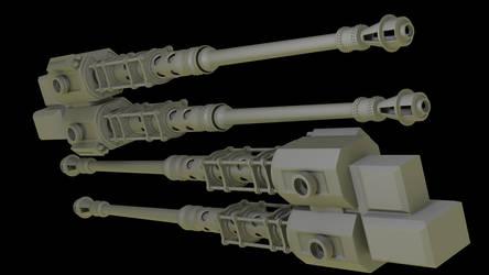 W.I.P. twinbarrel auto-cannon. by vips110