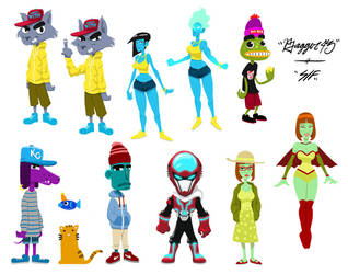 Bagzy Character line up by bagger043