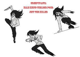 Creepypasta male pose (knife): Jeff the Killer by darkangel6021