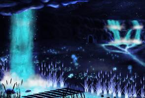Undertale - Waterfall by wolf-NaKomis