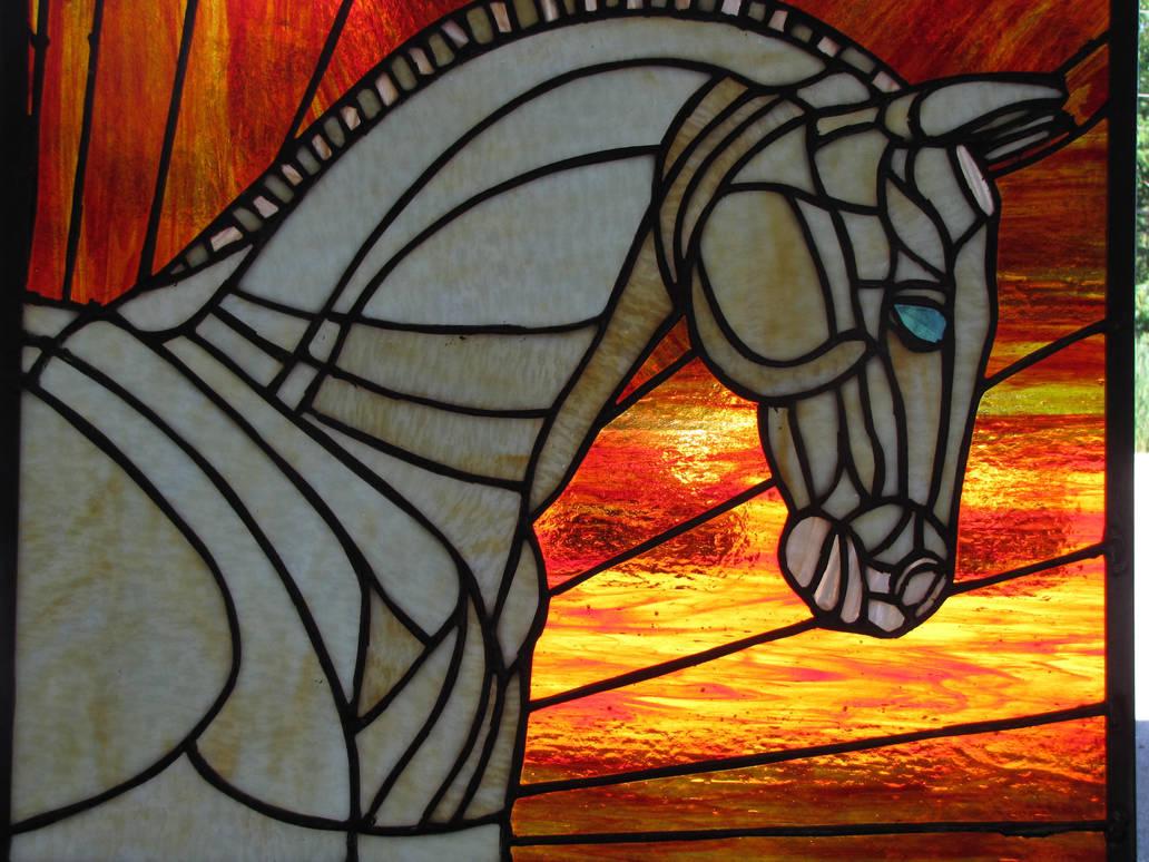 Cremello Stallion by GhostHorseStudio
