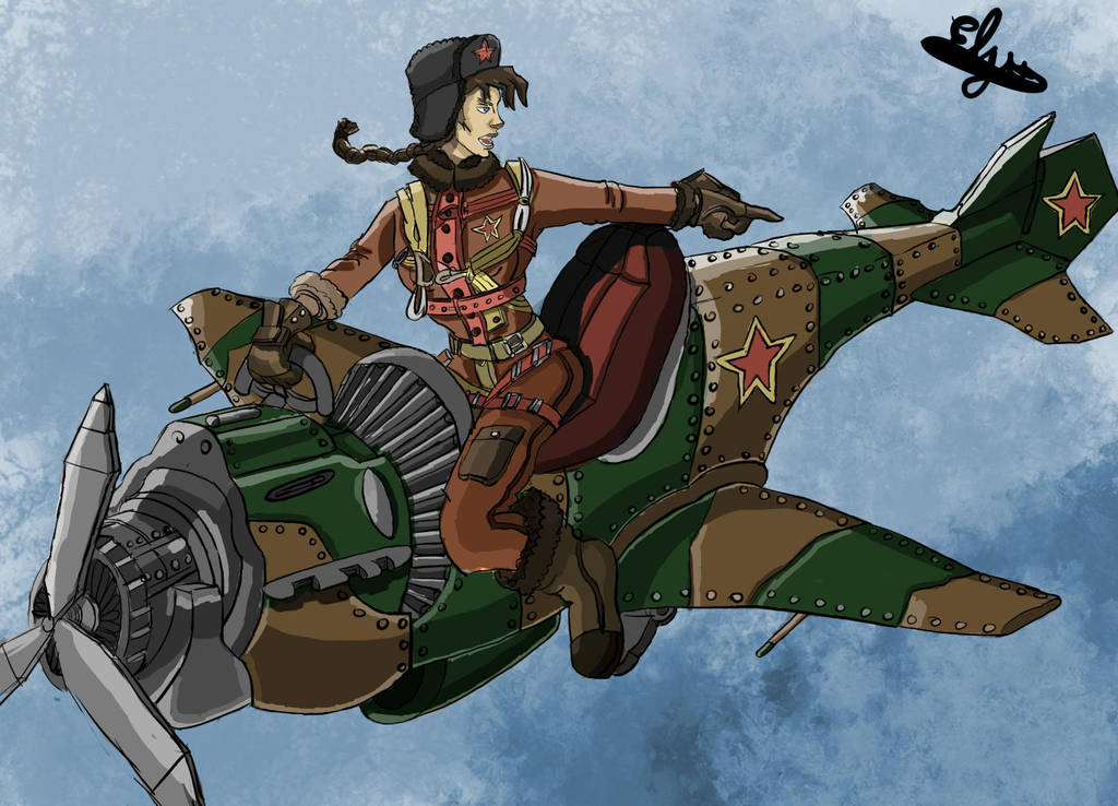 Avion-moto Urss by Felkint