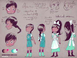 Alice in Videoland Character Sheet-Alice by rachelthegreat
