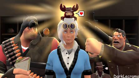 Heavy, Scout, Soldier and Spycrab by DarkLecramo