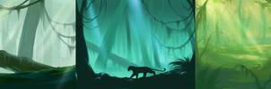 Jungle Speedpaints by noebelle