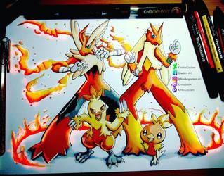 Blazing Chicken Fighters by KimikoGlaciem