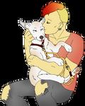 [Art Trade] Lari and His Pup by IisaDewshine