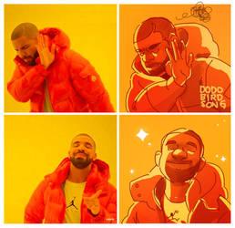 draw drake meme by dodobirdsong