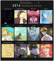 2016 Summary of Art by SalukiSilver