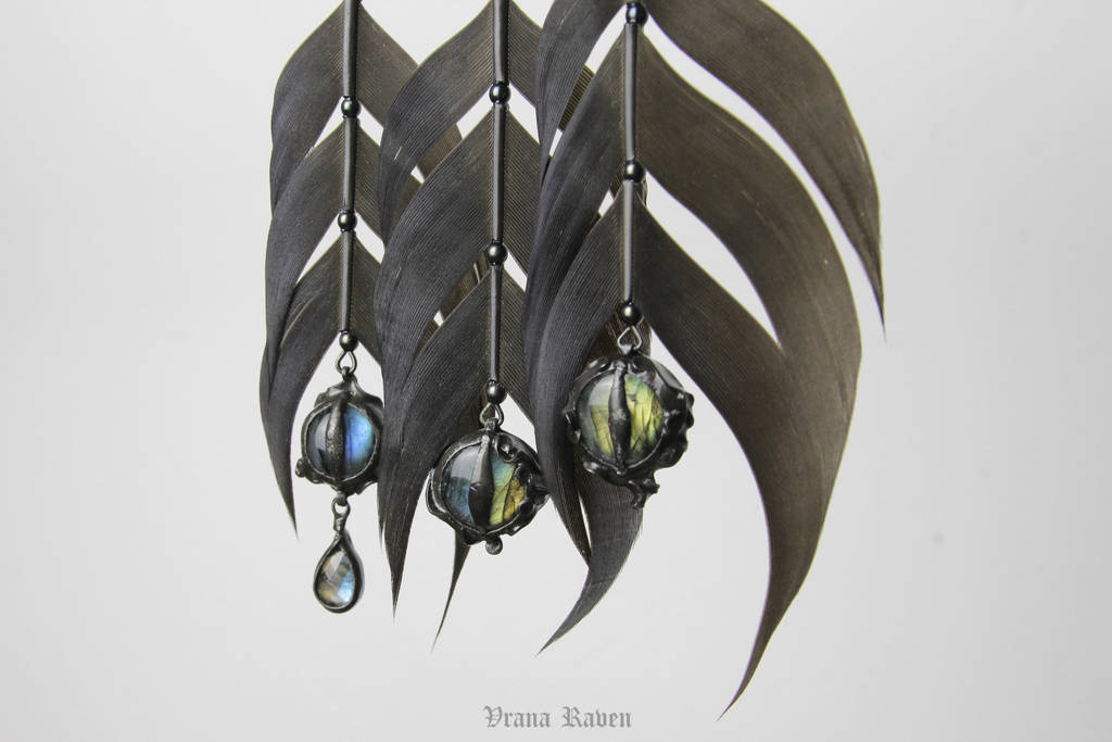 Observer earrings by omegaptera