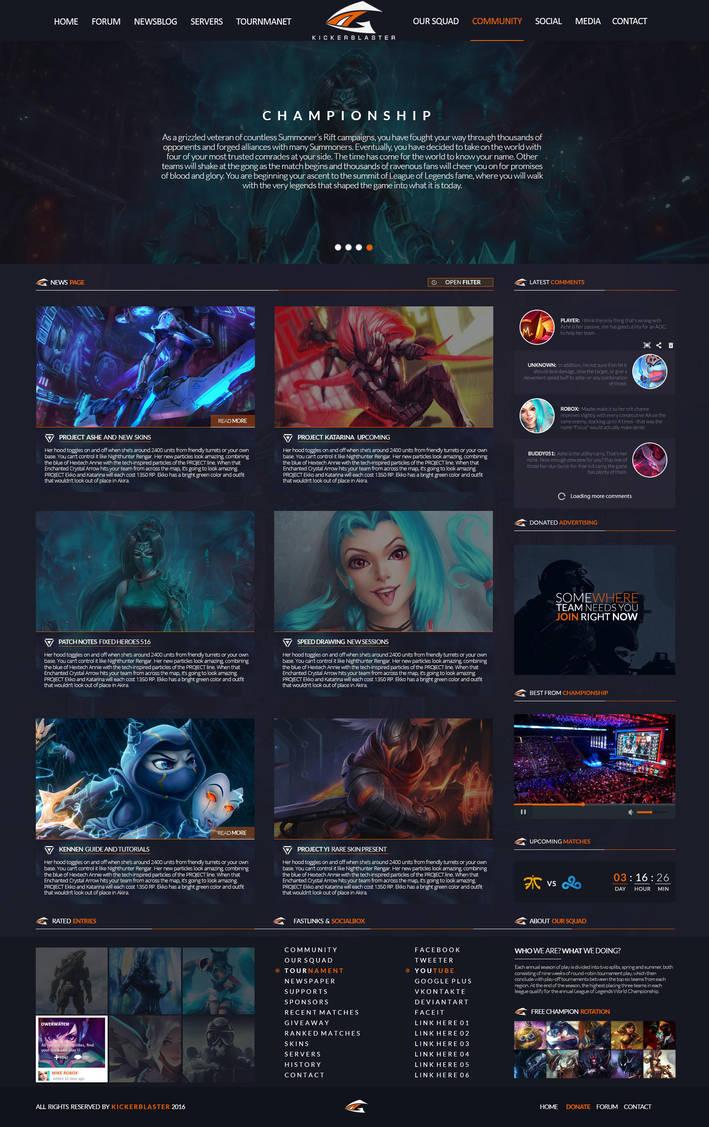 League Of Legends [Team Website 1.4.1] by Kickerblaster