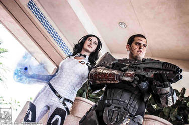 :Mass Effect: The Officer and The Commander by AlouetteCosplay