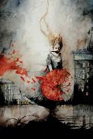 The red umbrella by Daniele-Serra