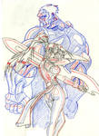 Ninja Chick Sketch by fedex32
