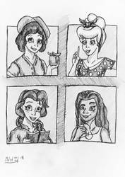 4 Generations of Princesses | Request #16 by mdsd95