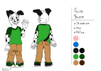 Felix Sleem Reference   Rough #13 (Colors) by mdsd95