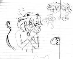 Devil Tenshi Hyuuga - Sketch by Smgirl825