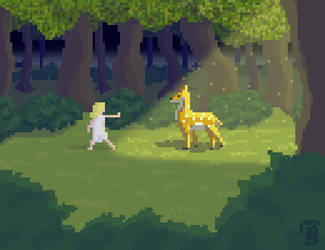 A Moment in Time - Pixel Art by Rincewind1