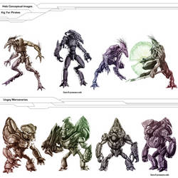 Halo - Jackals and Grunts concept batch by AzakaChi-RD-17