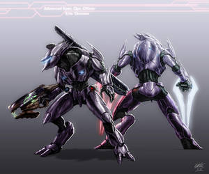 Halo - Character Request - Erle ' Ginosee by AzakaChi-RD-17