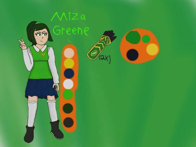 Miza Greene OC reference by krispy1264