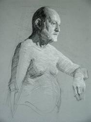 Sketch of a man by Ashland-Academy