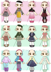 Cute Outfit Adopts (Open) by Nuggiez