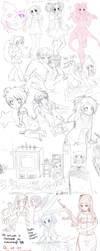 Sketch Dump 001 by oceantann