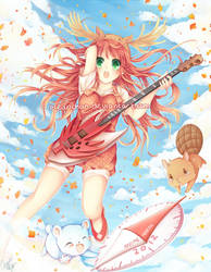 Anime North 2012 - Guitarist Momiji by oceantann