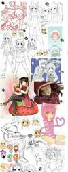 Sketch Dump 008 (Over 100 drawings...!) by oceantann
