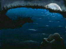 Paintings of the Moon, Number 4 by Footstorm