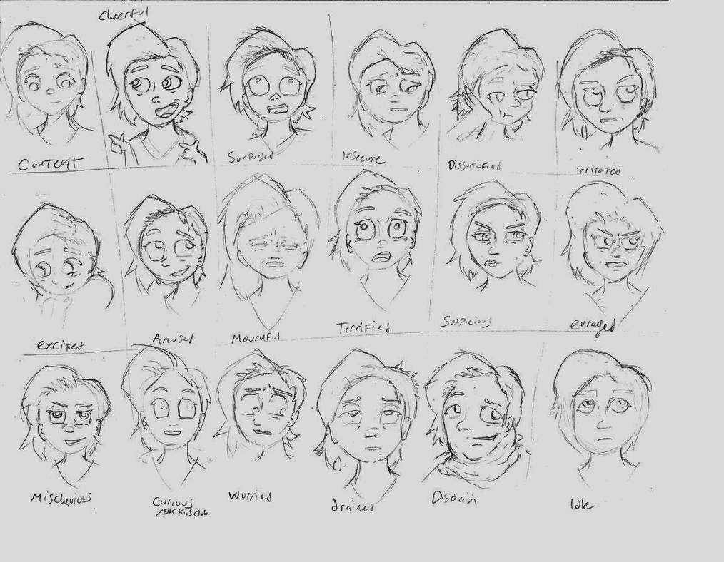 Expression Practice Starring Lucy by Footstorm