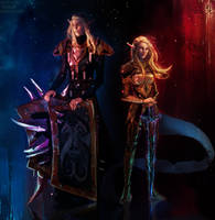 Theodora Nightsorrow and Lord Nightsorrow (comms) by Astranya