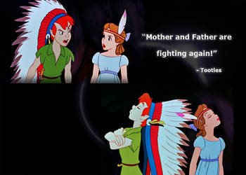 Peter and Wendy fighting by lisardo