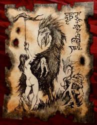 Groth Golka, the Devil Bird of Bal Sagoth by MrZarono